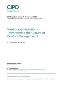 Workplace Mediation – Transforming the Culture of Conflict