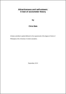 Phd thesis on self esteem